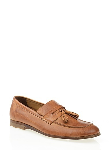 D by Divarese %100 Deri Loafer Taba